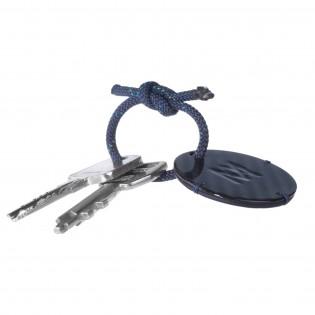 Porte-clé personnalisable cuir et carbone