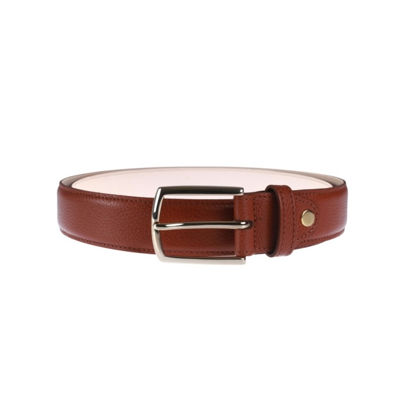 Luxury Leather belt, cognac color,can be personalised