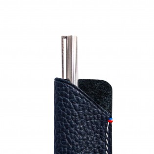 Leather pen pouch beautifully handcrafted in France