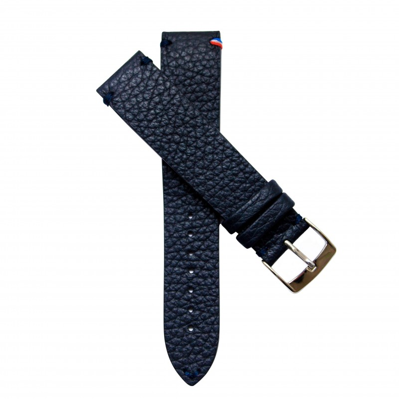 Leather watchstrap, handmade in France