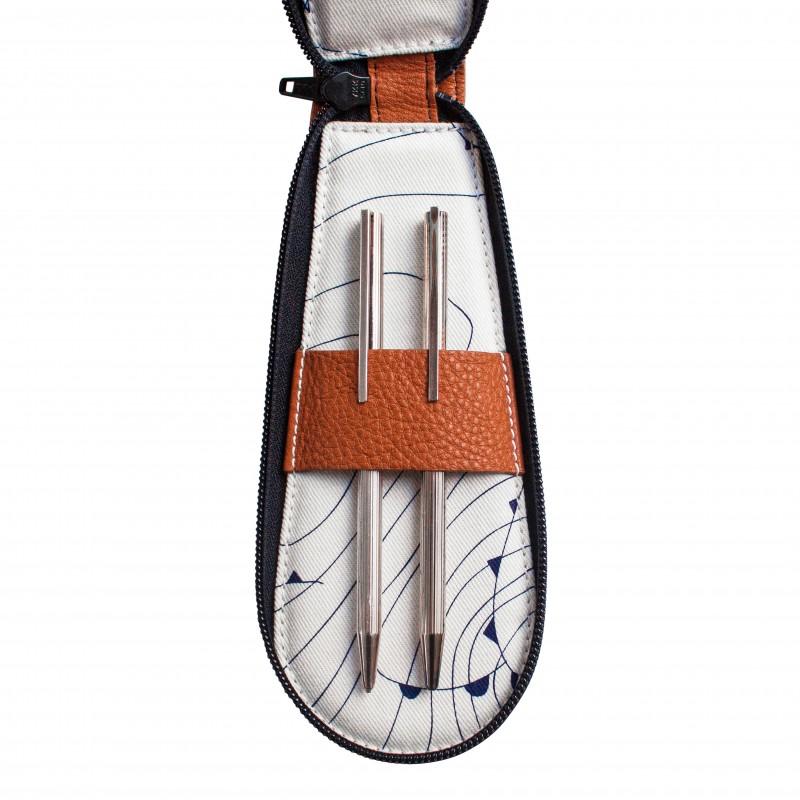Voyageuse à stylos Geneva, étui en cuir pour le rangement de vos crayons et stylos