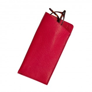 Glasses Pouch LANCIEUX red