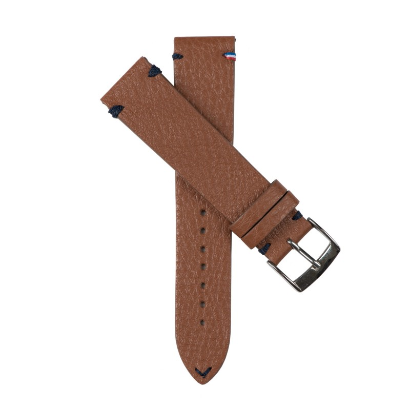 Watchstrap DOUARNENEZ camel brown