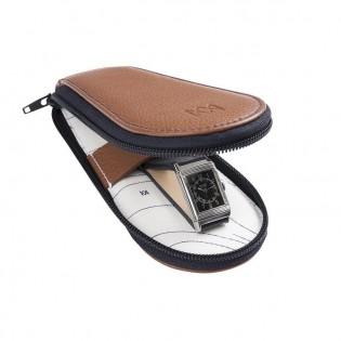 Voyageuse Geneva, étui en cuir pour le transport de votre montre ou chronographe