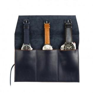 Ecrin montre en cuir, pour le transport de 3 montres ou chronographes