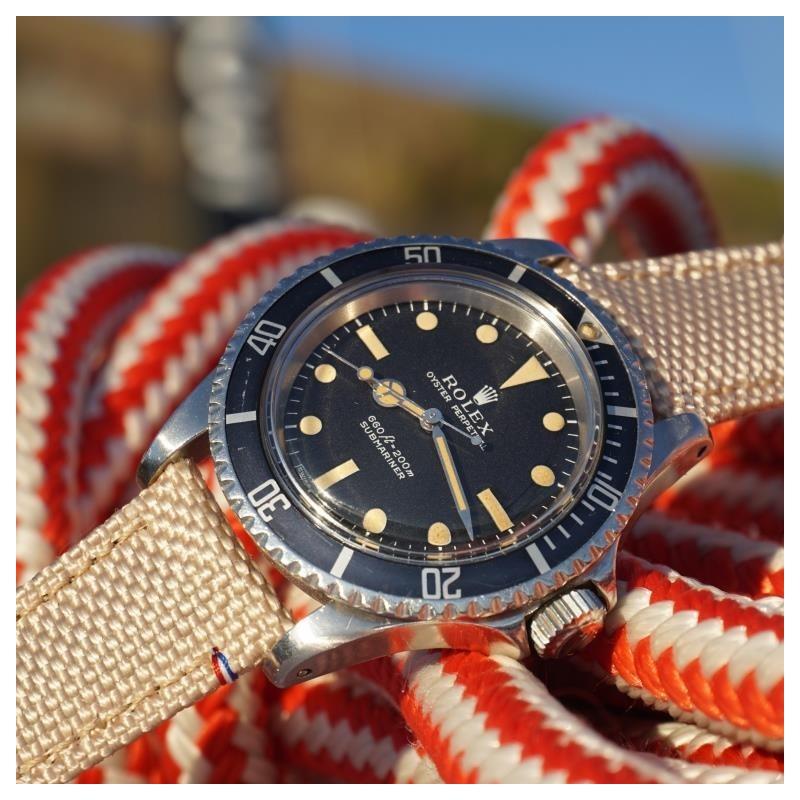 Bracelet de montre en toile TAMPA beige