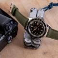 Bracelet en toile de voile TAMPA kaki