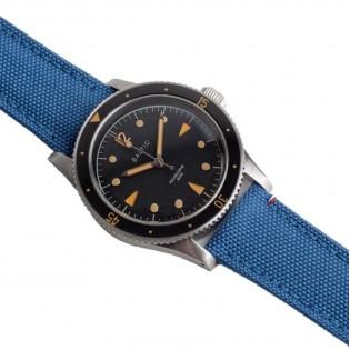 Bracelet de montre en toile TAMPA bleu glacé