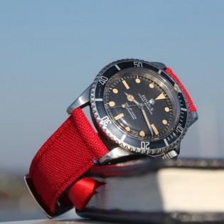 Bracelet de montre toile TAMPA rouge