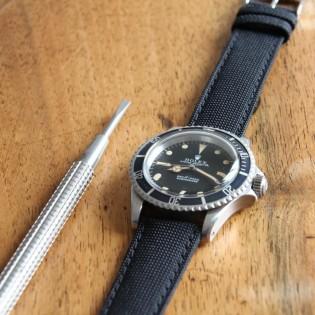 Bracelet de montre toile LARMOR PLAGE noir