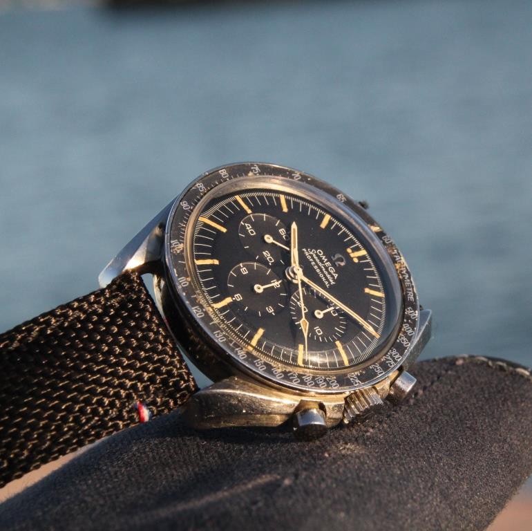 bracelet toile noir pour Speedmaster