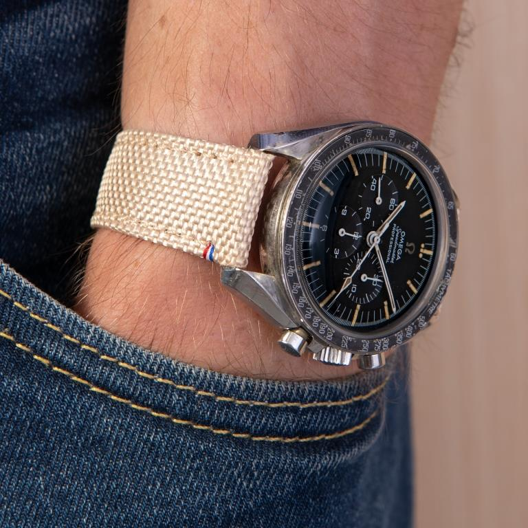 bracelet cordura sable omega speedmaster