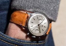 Chronograph Lip Genève 1960s on Avel & Men leather strap